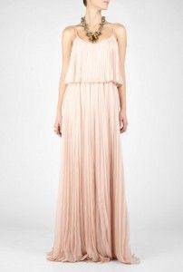 blush chiffon maxi dress | Blush Pleated Maxi Dress | Shop apparel, fashion | Kaboodle