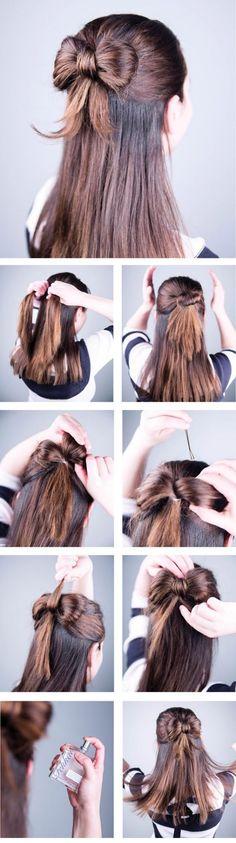 peinado con moño en la parte trasera