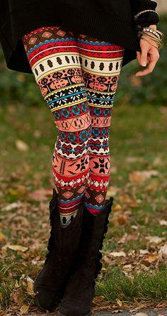 Fair isle leggings - love these tights!