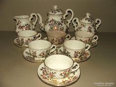 ZSOLNAY ANTIK TEÁSKÉSZLET Kettles, Pots, Tea Cups, Tableware, Dinnerware, Tablewares, Dishes, Place Settings, Cookware