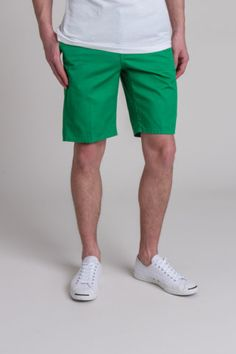 Green shorts for summer