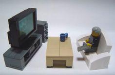 How to make Lego furniture Minifigura Lego, Modele Lego, Lego Furniture, Lego Club, Lego Boards, Lego Room, Cool Lego Creations, Lego Architecture, Lego Design