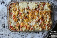 Mix and Match Mama: Tex-Mex Potato Breakfast Casserole