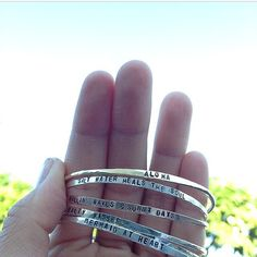 Stamped Name Bangle MAKE YOUR OWN Customize in by TreasuresByUmiko