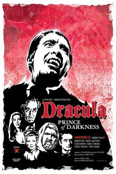 From the House of Hammer, it's Christopher Lee as the count in Terence Fisher's Dracula Prince of Darkness.  Digital Print by DadManCult, $15.99