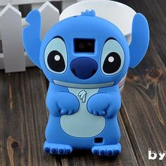 Cute Lovely Stitch Alien Dolly Soft Case Cover For Smart Mobile Phones (ZTE Majesty Z796C / Source N9511, Blue)
