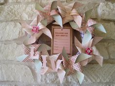New Arrival Welcome Baby Wreath Pink - CUSTOM via Etsy