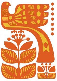 Animalarium: Sunday Safari - The Color of Spring Songs, vintage orange bird art