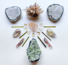 Crystal Mandala, Dendritic Agate, Petrified Wood, Minerals, Quartz, Hair Accessories, Crystals, Beauty, Crystals Minerals