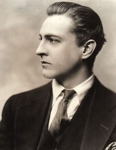 "John Barrymore at the apex of his matinee idol fame. This pic illustrates why his nickname was ""The Great Profile""."