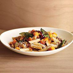 Butternut Squash and Fried Sage Pasta Recipe | Epicurious.com