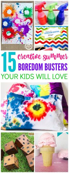 I always like to have a few tricks up my sleeve when the kids get restless for new ideas, games and activities to play so I put together a list of Summer Boredom Busters for Kids!