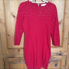 Michael Kors little red sweater dress. v-day ♥️❤️ Size small worn once. Perfect little Valentine's Day dress. Don't miss out. Gorgeous fit!!!!! ♥️❤️ no trades. Michael Kors Dresses