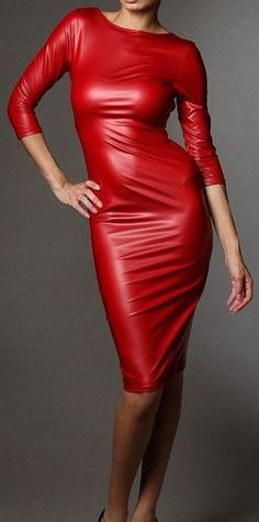 I don't normaly comment but this red leather dress is just to beautiful not to say something, fantastic!