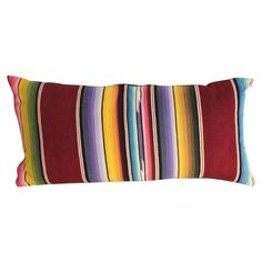 Mexican Serape Wool Bolster Pillow | From a unique collection of antique and modern pillows and throws at https://www.1stdibs.com/furniture/more-furniture-collectibles/pillows-throws/