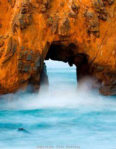 Sea Arch -  Julia Pfieffer Beach - Big Sur, California (by Lisa Dearing)