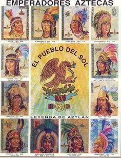 Emperadores Aztecas del pueblo del Sol.