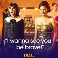 glee cast - brave lyrics | azlyrics.biz
