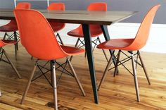 Custom conference table by Avandi for the Sunrise office in Soho, NY in great company with some Eames chairs
