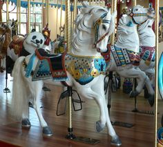 Lovely Carousel Horse, I Just I Knew More About It (i.e., the name of the carver/co., the year it was made, where one can find this beautiful horse today, etc)