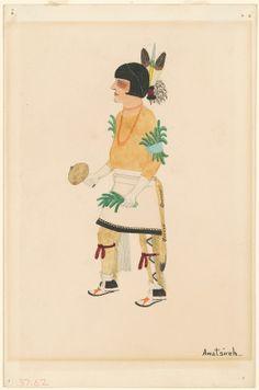 "Awa Tsireh, ""Pueblo Dancer,"" c. gouache and graphite on wove paper Native American Heritage Month, Native American Art, American Indians, National Gallery Of Art, Art Object, Gouache, Graphite, Art History, Nativity"