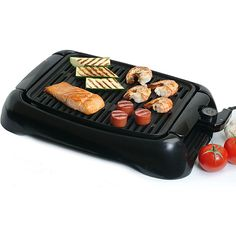 <li>Cook healthy meals with this countertop electric grill <li>Appliance provides adjustable thermostat control to meet all your grilling needs<li>Kitchen accessory features a 13-inch non-stick grilling surface