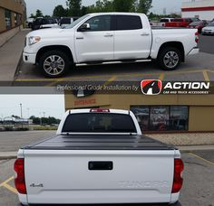 """Steelcraft 5"""" Oval sidebars and Bak Industries FiberMax tonneau cover installed on this new Tundra"""