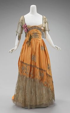 Worth Evening Dress, 1910-15, Brooklyn Museum Costume Collection at the Met