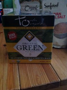 Healthy green tea. Drink green tea three to five times a day with honey and lemon.