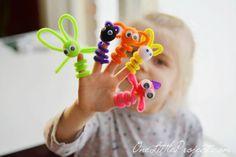 Sortez vos cure-pipes ! On craque pour ces marionnettes à doigts à bricoler en quelques minutes :) - Brico enfant - Trucs et Bricolages