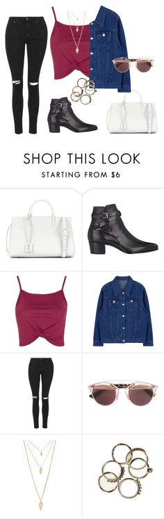 """""""Untitled #202"""" by charlotte-down on Polyvore featuring Yves Saint Laurent, Topshop, Christian Dior and Forever 21"""