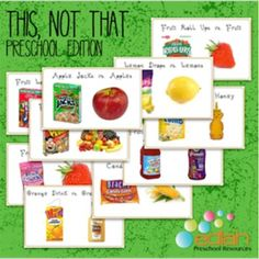 Food marketing is tricky for little people! Marketers put healthy food words on products that are far from healthy to trick young minds. This printable activity will help your little ones start thinking differently about product labels. Each card includes a picture of an unhealthy food with what seems to be a healthy name and a picture of the actual healthy food it is pretending to be.