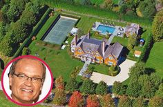 Celebrities Homes In The Hamptons - Kelsey Grammer Micoleys picks for… Celebrity Mansions, Celebrity Houses, Dream Mansion, Dream Homes, Multi Million Dollar Homes, Kelsey Grammer, Pool Landscape Design, Rich Home, Expensive Houses