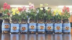 Mason Jar Oktoberfest Decorations