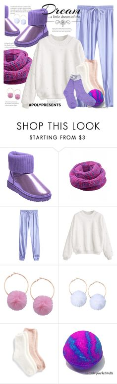 """#PolyPresents: Stocking Stuffers"" by allanaaa11 ❤ liked on Polyvore featuring Lemon and Love Quotes Scarves"