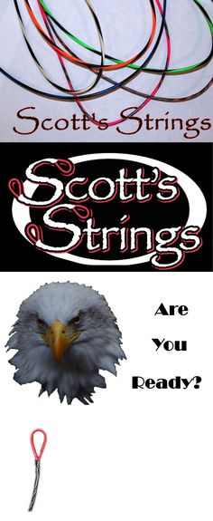 Strings 181305: Full Set Of Compound Bow Strings Custom Made By Scotts Strings Custom Archery -> BUY IT NOW ONLY: $49.99 on eBay!