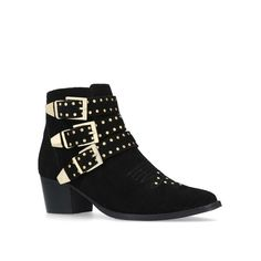 b38ce2ba7f23b Shop TIGER Black Studded Western Ankle Boots by MISS KG at official Kurt  Geiger Site.