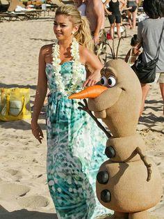 Sand Sculpture of Olaf