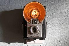 Night lights with vintage cameras