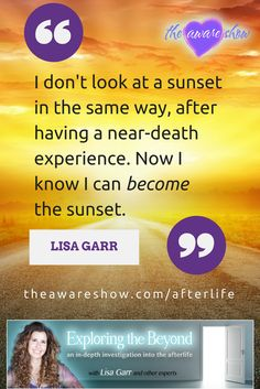 The Afterlife Summit on The Aware Show with Lisa Garr features 20 interviews with medical doctors, mediums, shamans, and paranormal researchers about the world beyond this one. Life Purpose, Paranormal, Consciousness, Doctors, Destiny, Awakening, Exploring, Connect, How To Find Out