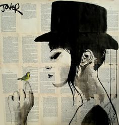 "Saatchi Online Artist: Loui Jover; Pen and Ink, 2013, Drawing ""canary"""