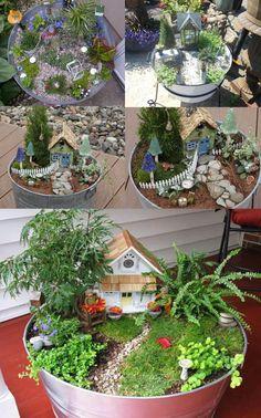 Washtub Fairy Gardens