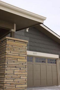 Bryce Canyon Bungalow - modern - exterior - denver - by Bungalow House Plans Exterior Color Schemes, House Color Schemes, Exterior Paint Colors For House, Paint Colors For Home, Modern Exterior, Exterior Design, Stucco Exterior, Garage Door Paint, Garage Doors
