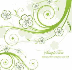 abstracto verde floral