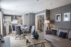 The large open plan kitchen, dining and family room at Ashton Gardens in Kirkliston