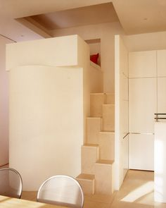 * Studio loft sleeping area
