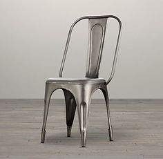 Remy Side Chair in Gunmetal- Restoration Hardware