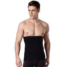 b507717f39 iYunyi Mens Slimming Waist Trimmer Belt Body Shaper Lose Weight Belt L  Black