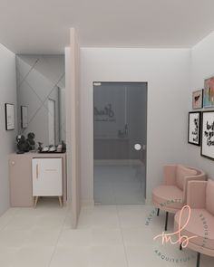 Micropigmentation Studio reception project, with a totally clean and delicate coffee corner in pastel tones. # Micropigmentation … - Decoration For Home Nail Salon Design, Nail Salon Decor, Beauty Salon Decor, Beauty Salon Interior, Schönheitssalon Design, Esthetics Room, Clinic Interior Design, Nail Room, Nail Designer