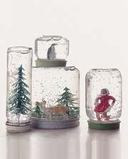 Snow globe crafting for kids.  Great christmas gift idea!